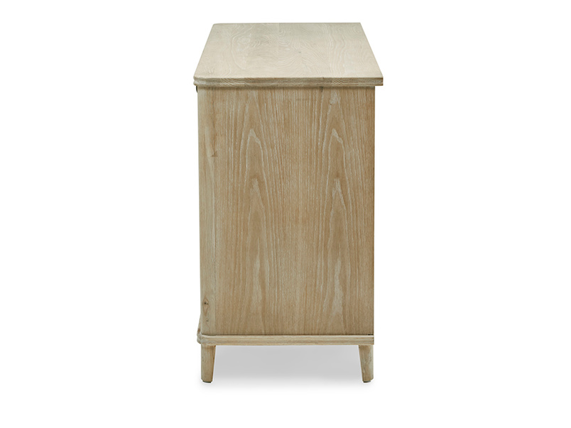 Grand Fandangle oak wooden sideboard side detail