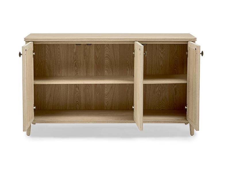 Grand Fandangle wooden oak sideboard open