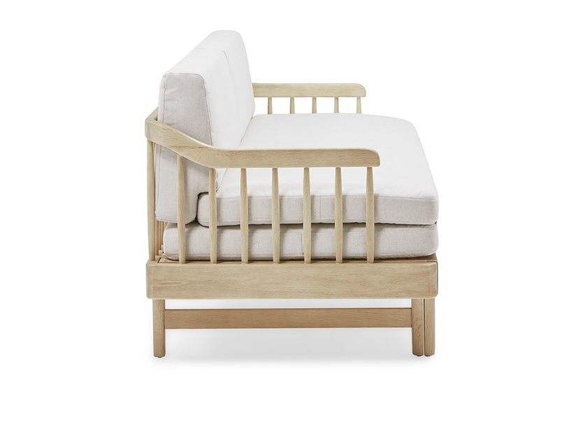 Kipster solid oak sofa bed side detail