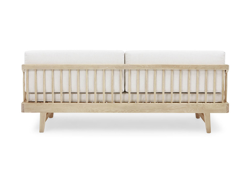 Kipster solid oak sofa bed back detail