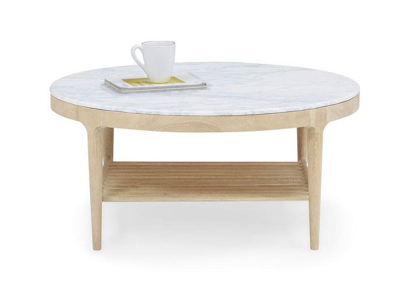 Marmo marble and wood coffee table