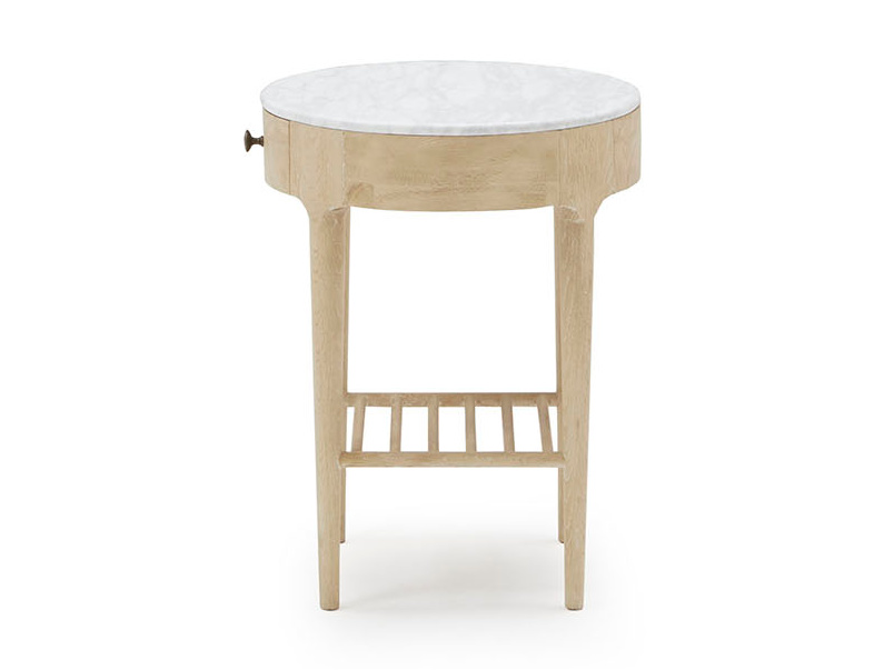 Mini Marmo round side table marble side detail
