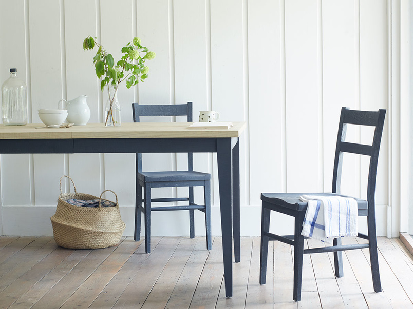 Idler wooden kitchen chair in painted Charcoal