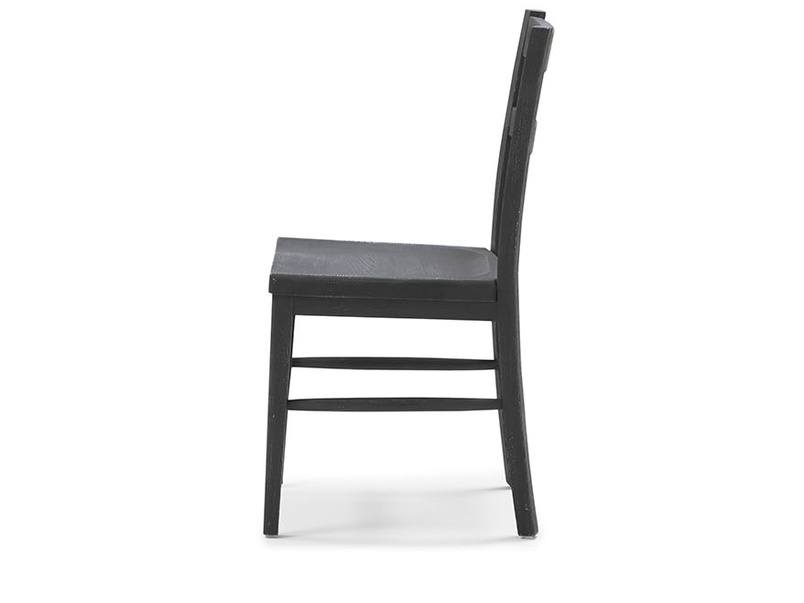Idler kitchen chair in Charcoal side detail