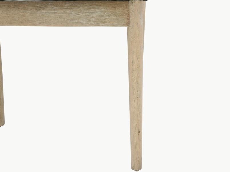 Popcorn kitchen chair wood leg detail