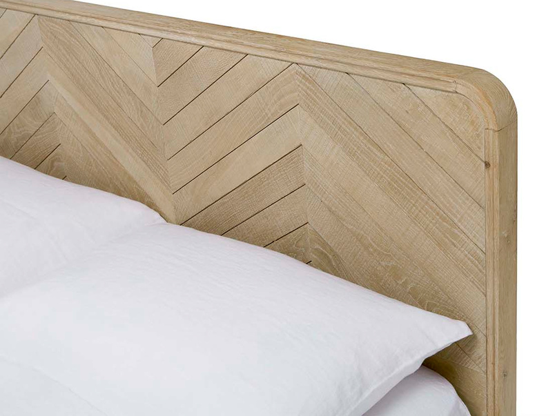 Flapper wooden oak parquet style bed