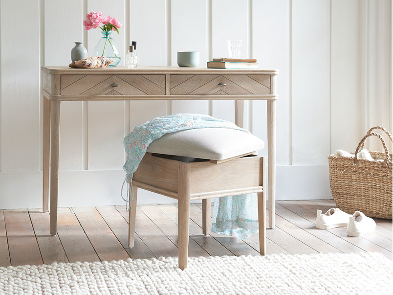 Lippy dressing table storeage stool