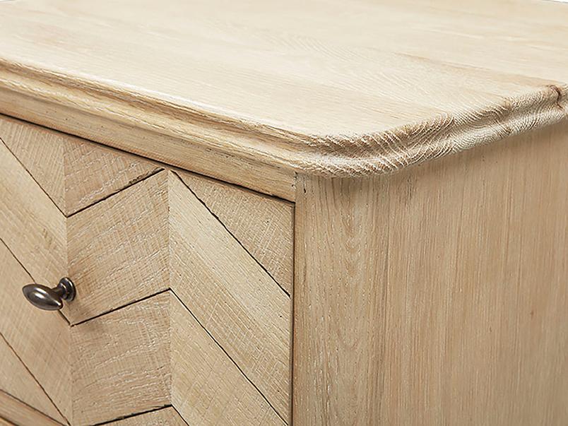 Tall Flapper wooden tall boy corner detail