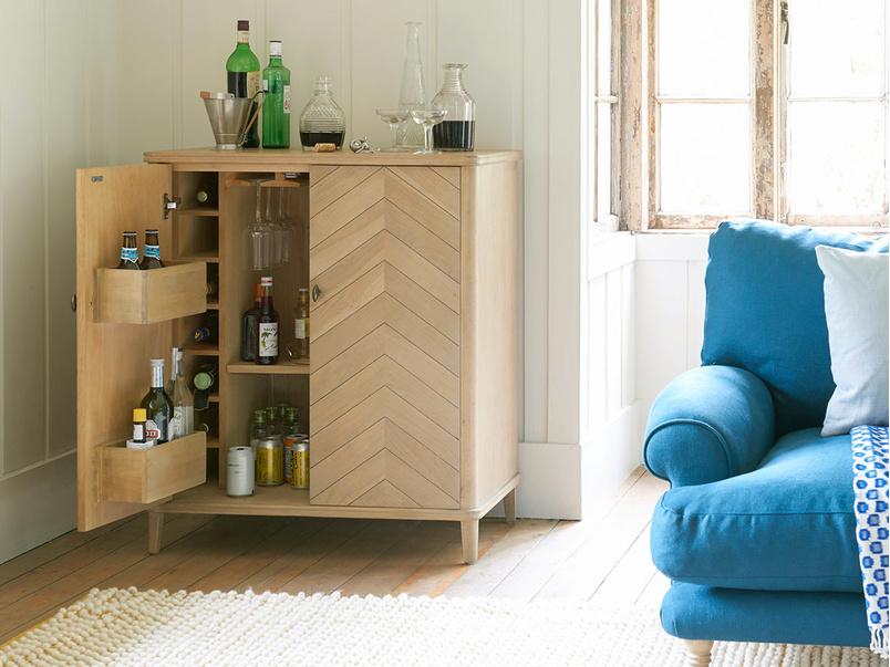 Bootleg oak drinks cabinet