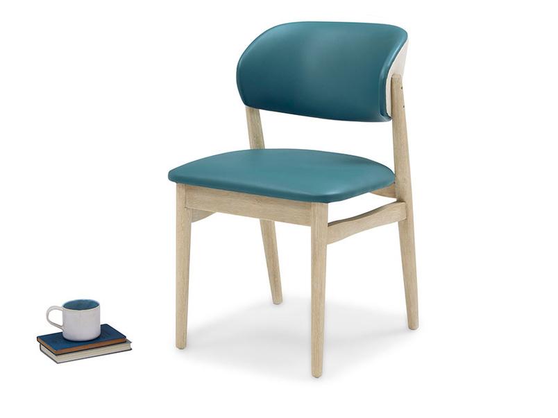 Popcorn retro style leather kitchen chair