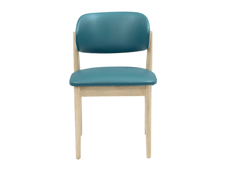 Popcorn Teal retro leather chair