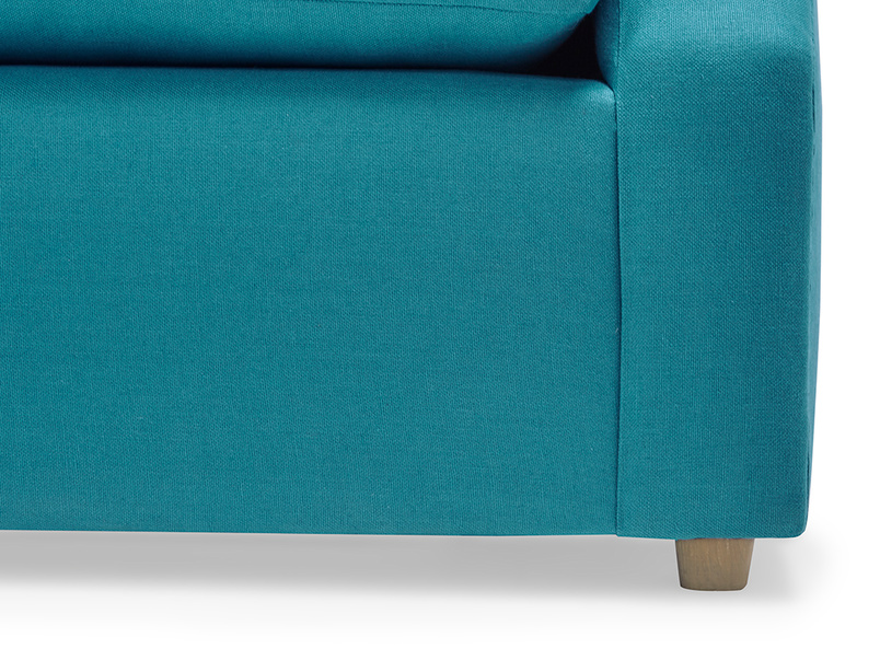 Crumpet contemporary sofa bed leg detail
