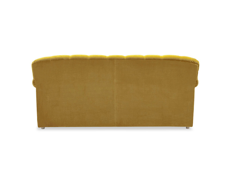 Truffle upholstered sofa bed back detail