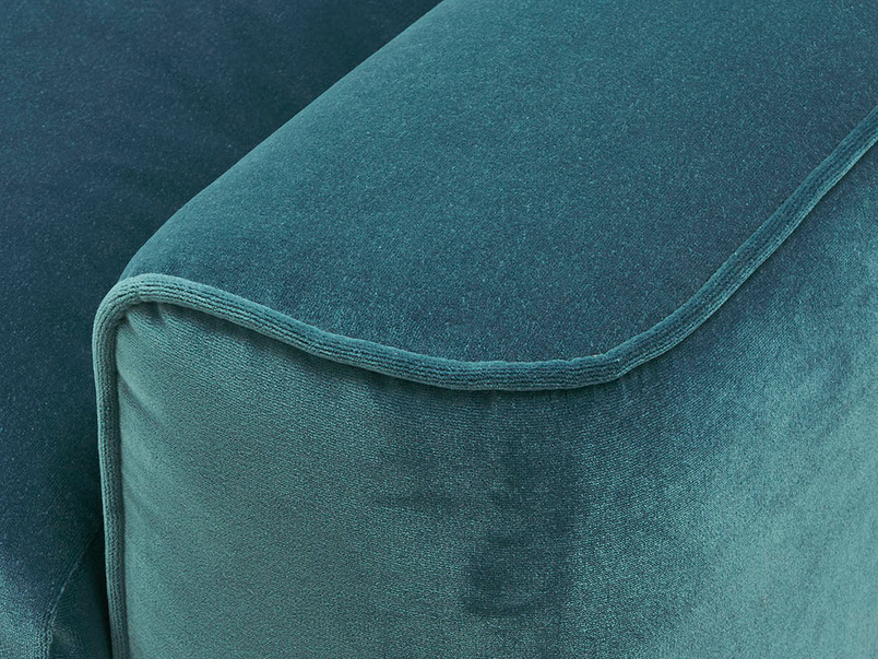 Strudel upholstered armchair arm detail