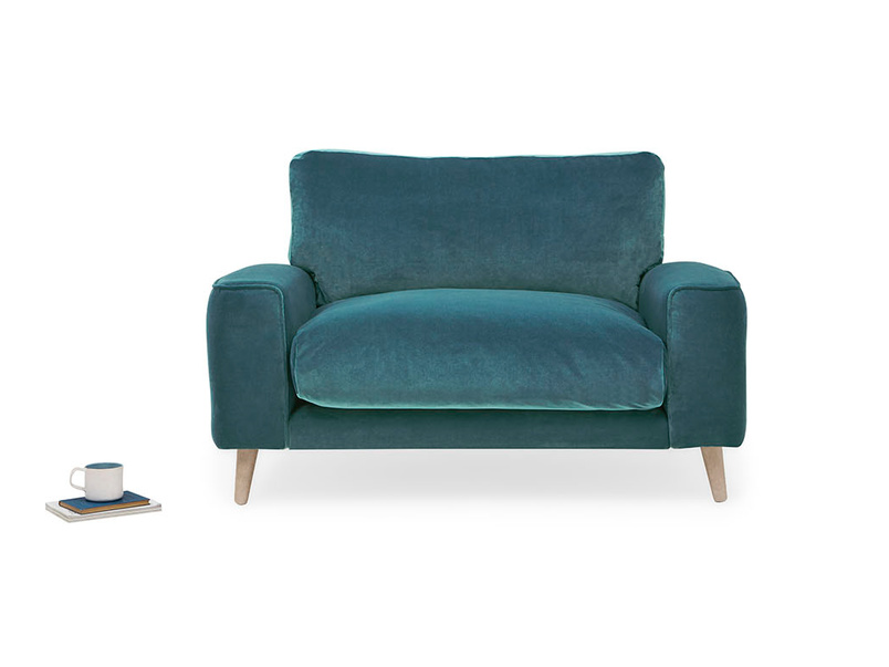 Strudel contemporary upholstered love seat