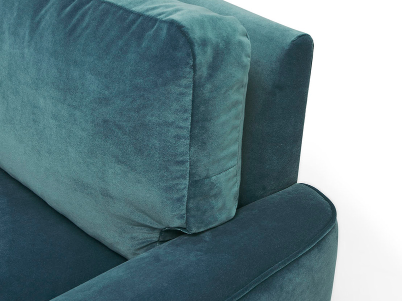 Strudel contemporary low arm armchair arm detail