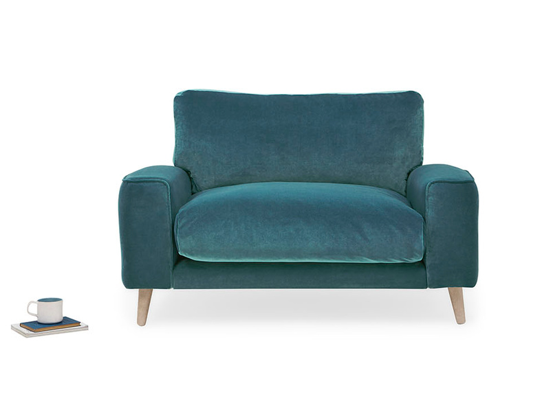 Strudel contemporary upholstered armchair