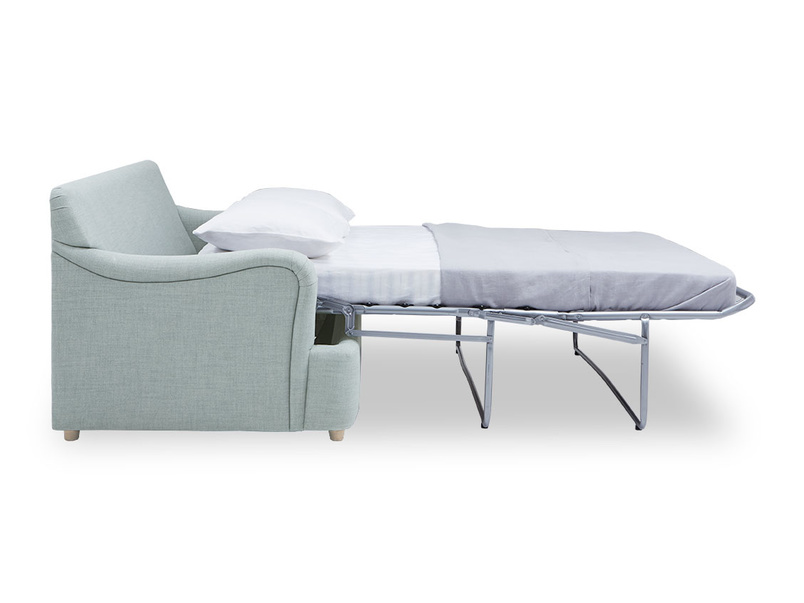 Jonesy modern sofa bed open side detail