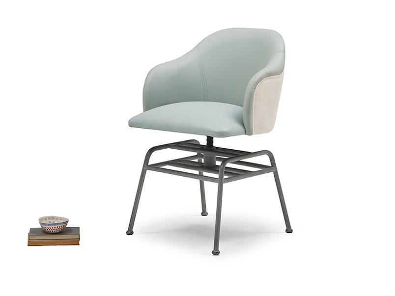 Milkshake adjustable leather retro kitchen chair