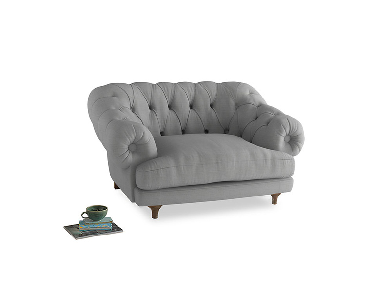 Bagsie Love Seat in Pewter Clever Softie