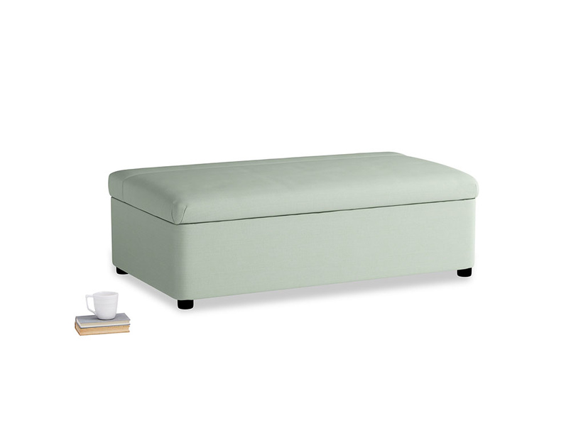 Double Bed in a Bun in Soft Green Clever Softie