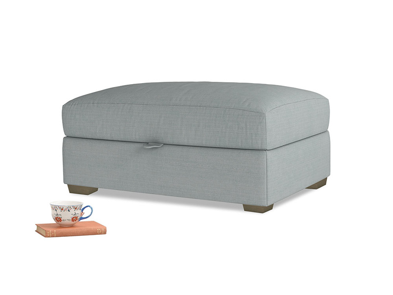Bumper Storage Footstool in Armadillo Clever Softie