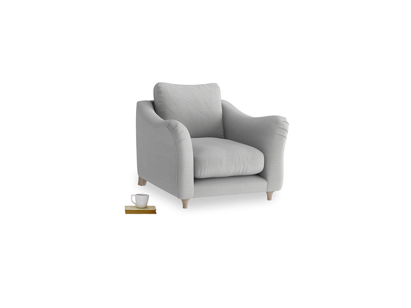 Bumpster Armchair in Pewter Clever Softie