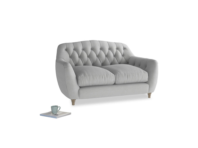 Small Butterbump Sofa in Pewter Clever Softie
