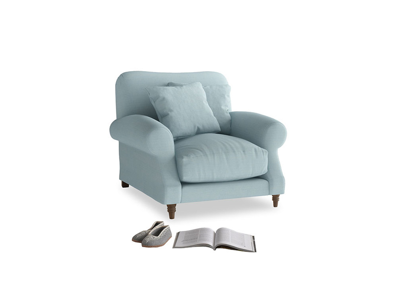 Crumpet Armchair in Powder Blue Clever Softie
