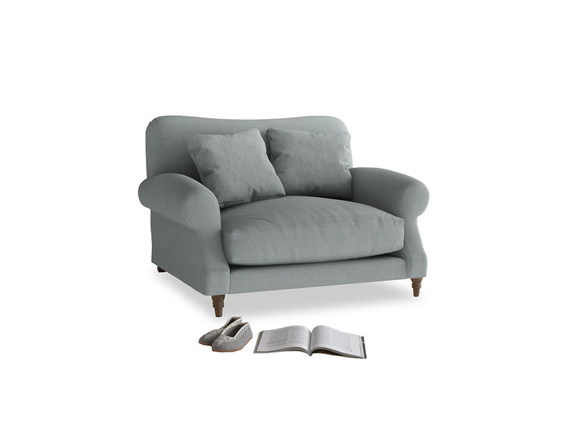 Crumpet Love seat in Armadillo Clever Softie
