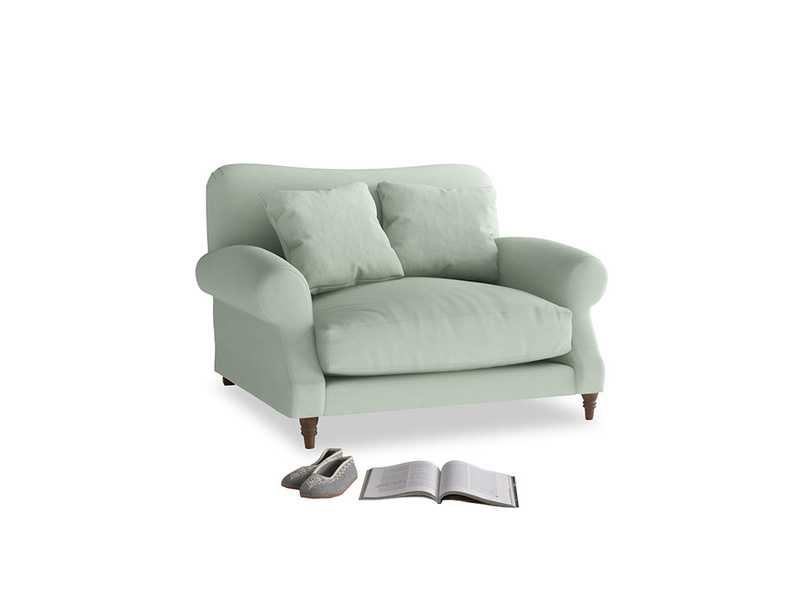 Crumpet Love seat in Soft Green Clever Softie