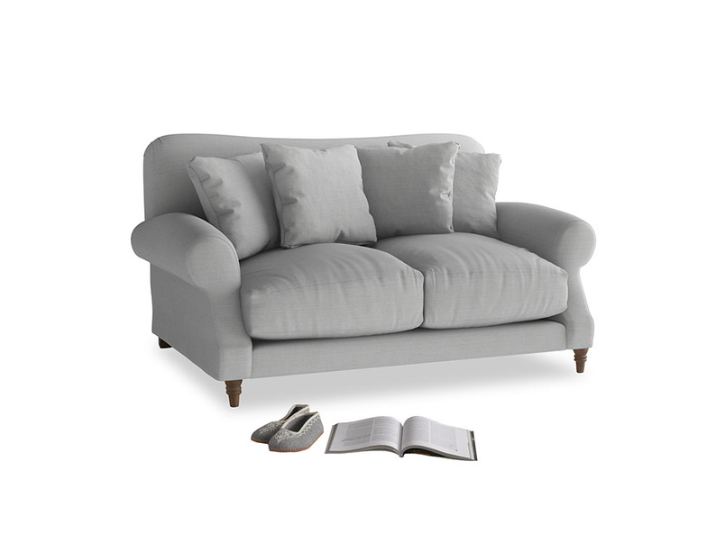 Small Crumpet Sofa in Pewter Clever Softie