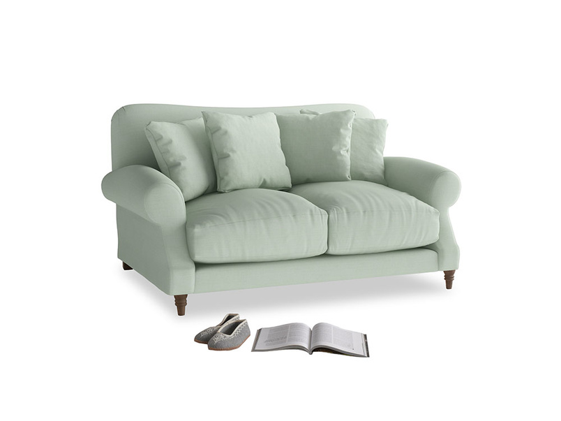 Small Crumpet Sofa in Soft Green Clever Softie