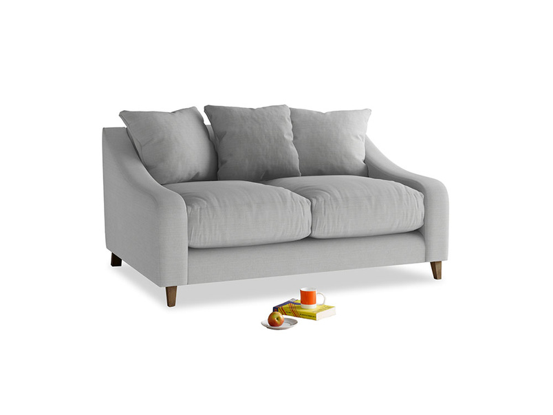Small Oscar Sofa in Pewter Clever Softie