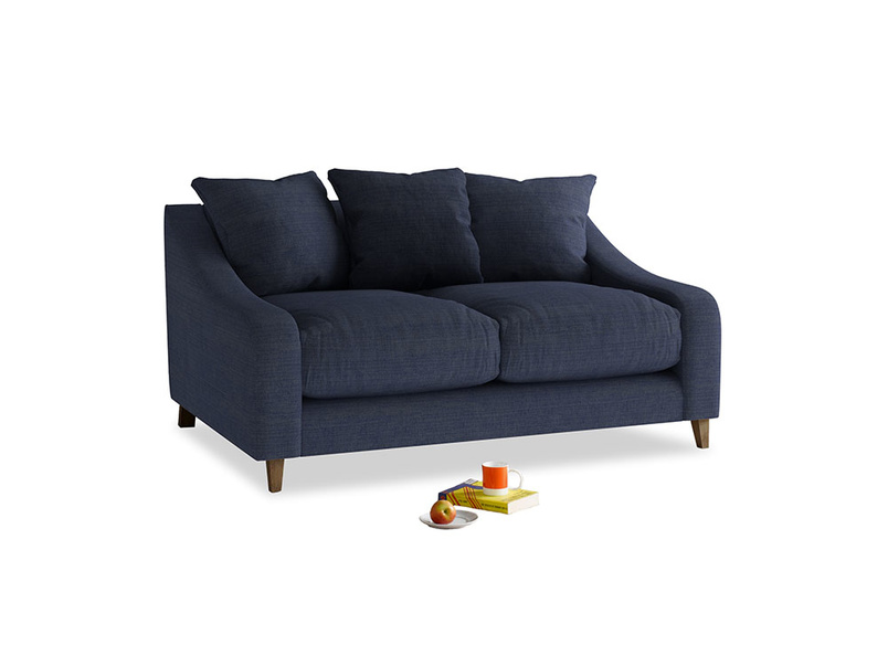 Small Oscar Sofa in Seriously Blue Clever Softie