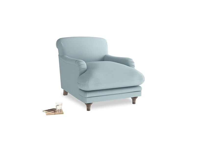 Pudding Armchair in Powder Blue Clever Softie