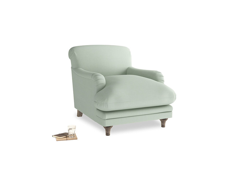 Pudding Armchair in Soft Green Clever Softie