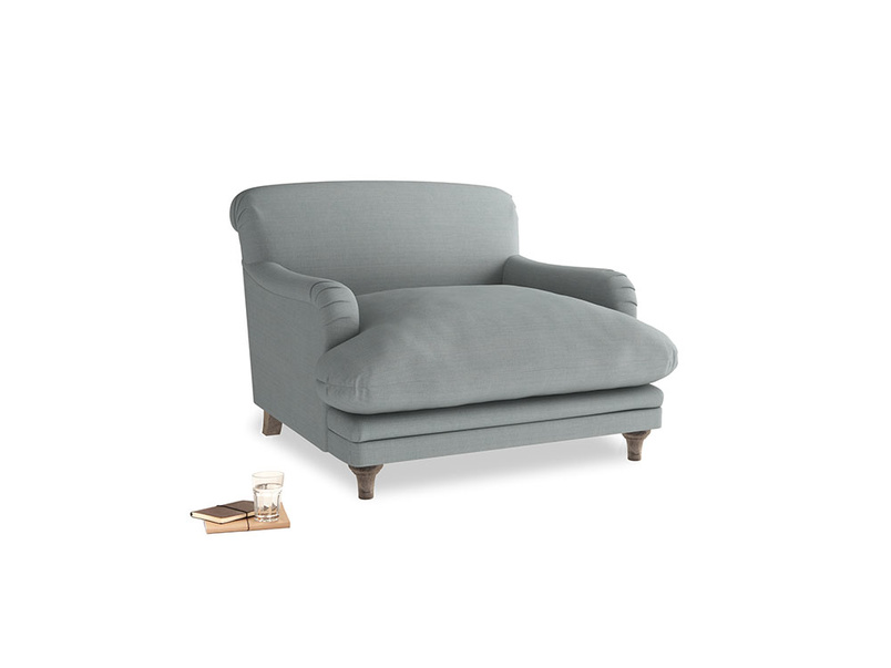 Pudding Love seat in Armadillo Clever Softie