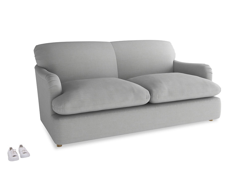 Medium Pudding Sofa Bed in Pewter Clever Softie