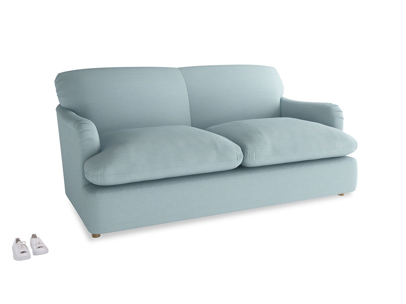 Medium Pudding Sofa Bed in Powder Blue Clever Softie