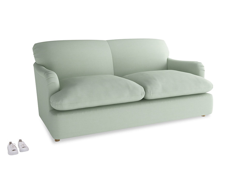Medium Pudding Sofa Bed in Soft Green Clever Softie