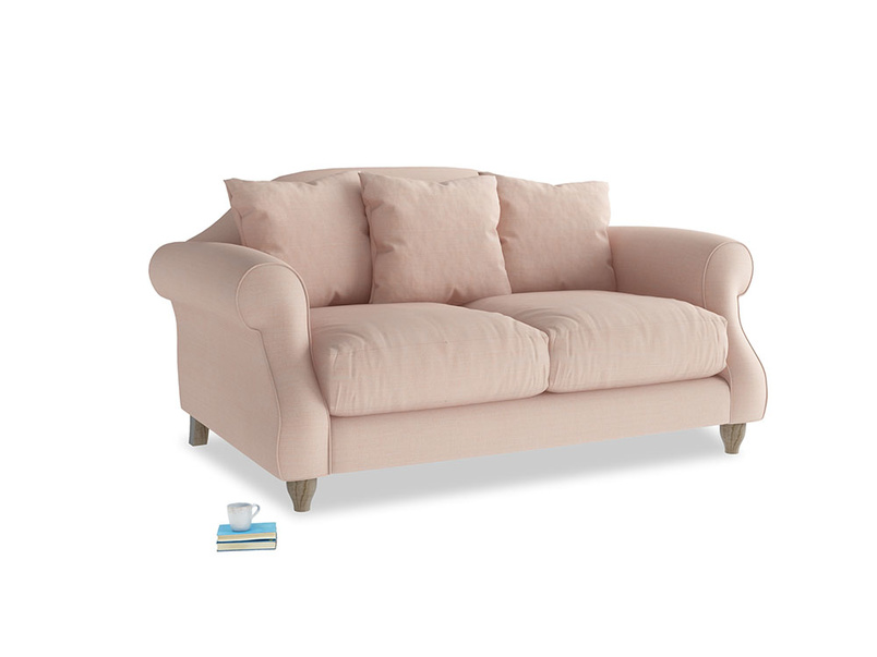 Small Sloucher Sofa in Pink clay Clever Softie