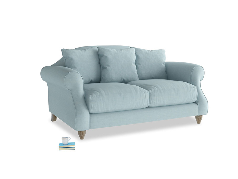 Small Sloucher Sofa in Powder Blue Clever Softie