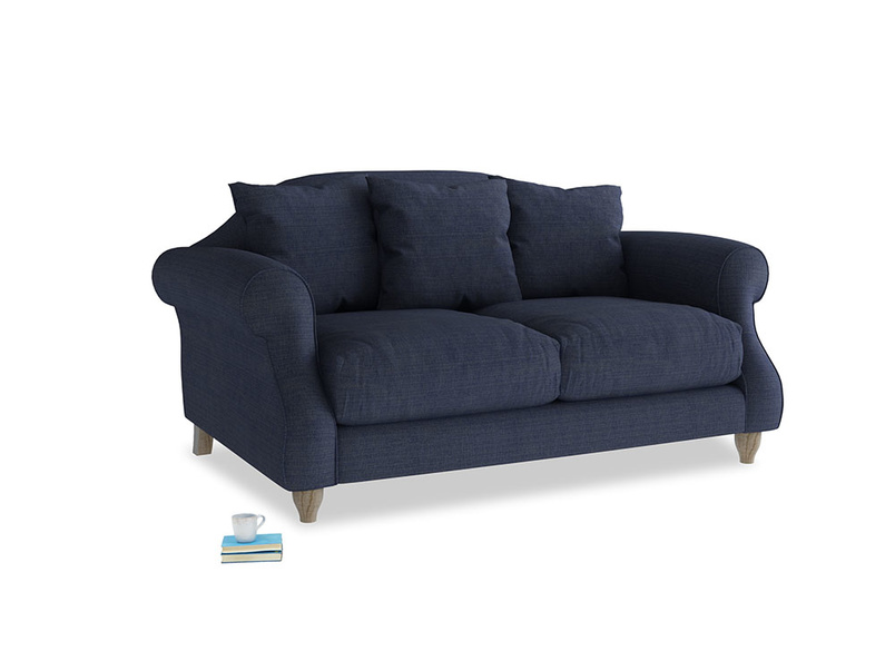 Small Sloucher Sofa in Seriously Blue Clever Softie