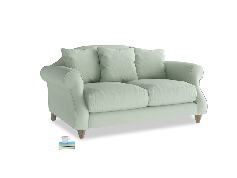 Small Sloucher Sofa in Soft Green Clever Softie