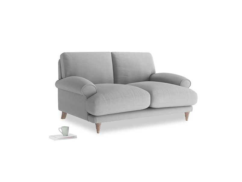 Small Slowcoach Sofa in Pewter Clever Softie
