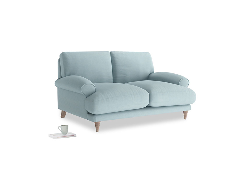 Small Slowcoach Sofa in Powder Blue Clever Softie