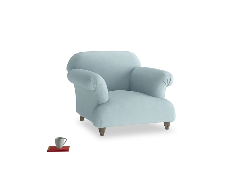Soufflé Armchair in Powder Blue Clever Softie