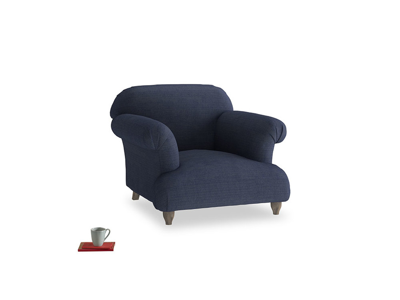 Soufflé Armchair in Seriously Blue Clever Softie