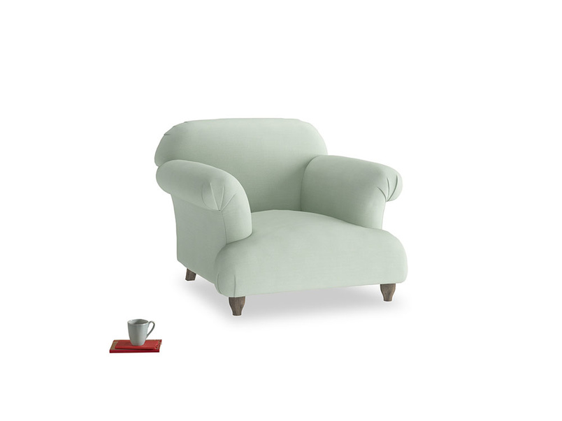 Soufflé Armchair in Soft Green Clever Softie